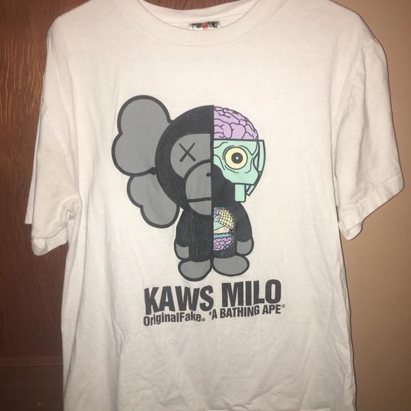 1129eabd3 Bape Shirts   X Kaws Tshirt   Poshmark